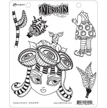 Dylusions Cling Stamps 8.5X7 - Crown of Roses