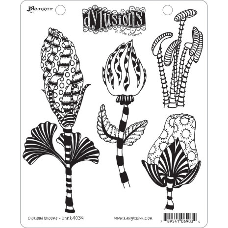 Dylusions Cling Stamps 8.5X7 - Glorious Blooms
