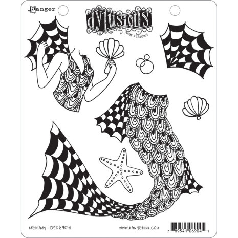 Dylusions Cling Stamps 8.5X7 - Merlady