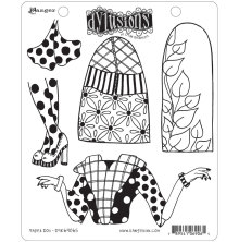 Dylusions Cling Stamps 8.5X7 - Paper Doll