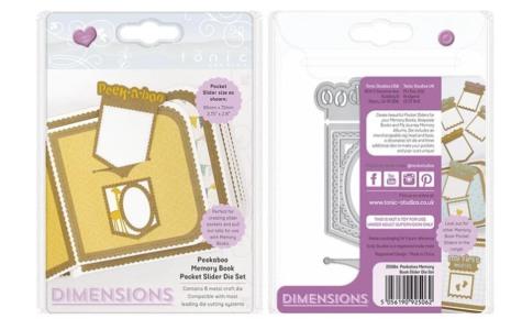 Tonic Studios Dimesions Die Set - Peekaboo Memory Bock Pocket Slider 2506E