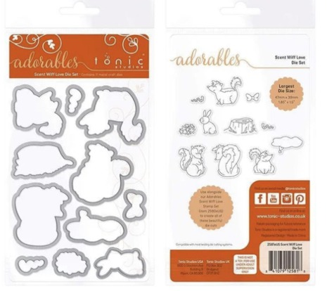 Tonic Studios Adorables Die Set - Scent Wiff Love 2580EUS