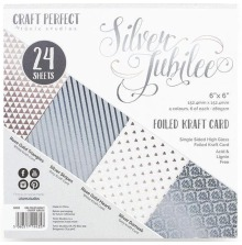 Tonic Studios Craft Perfect 6X6 Card Pack - Silver Jubilee 9435E