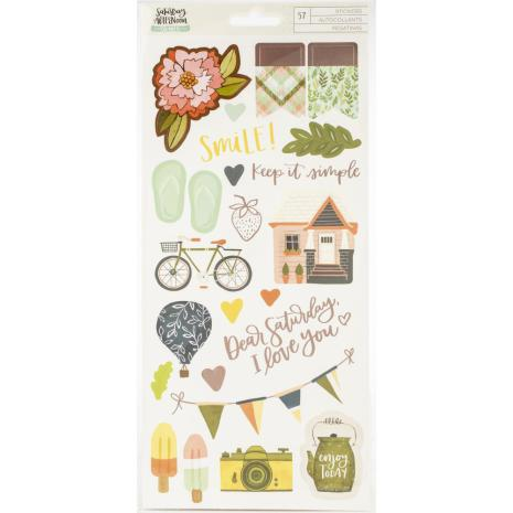 One Canoe Two Saturday Afternoon Cardstock Stickers 57/Pkg - Accents & Phrase