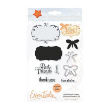 Tonic Studios Essentials Whimsical Frame Stamp Set – Best Friends Forever 1531E
