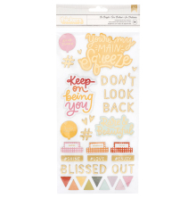 Dear Lizzy It´s All Good Thickers Stickers 5.5X11 84/Pkg - Be Bright Phrase & Ic