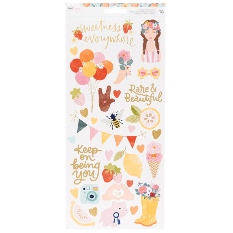 Dear Lizzy It´s All Good Cardstock Stickers 6X12 76/Pkg - Accent & Phrase