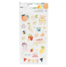 Dear Lizzy It´s All Good Puffy Stickers 27/Pkg - Mini Icons