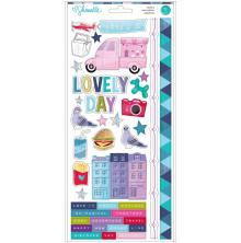 Shimelle Sparkle City Cardstock Stickers 6X12 71/Pkg - Accents & Phrases