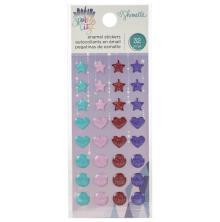 Shimelle Enamel Dots 32/Pkg - Sparkle City
