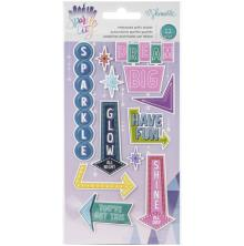 Shimelle Embossed Puffy Stickers - Sparkle City
