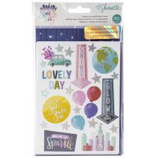 Shimelle Sticker & Washi Folder 364/Pkg - Sparkle City
