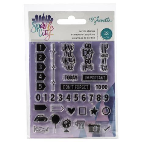 Shimelle Acrylic Stamps 32/Pkg - Sparkle City