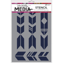 Dina Wakley Media Stencils 9X6 - Grande Arrows