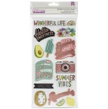 Amy Tan Stay Sweet Thickers Stickers 39/Pkg - Roll With It Phrase