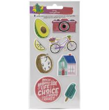 Amy Tan Stay Sweet Stickers 8/Pkg - Embossed Icons