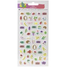 Amy Tan Stay Sweet Stickers 62/Pkg - Mini Puffy Icons