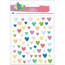 Amy Tan Stay Sweet Epoxy Stickers 66/Pkg - Hearts