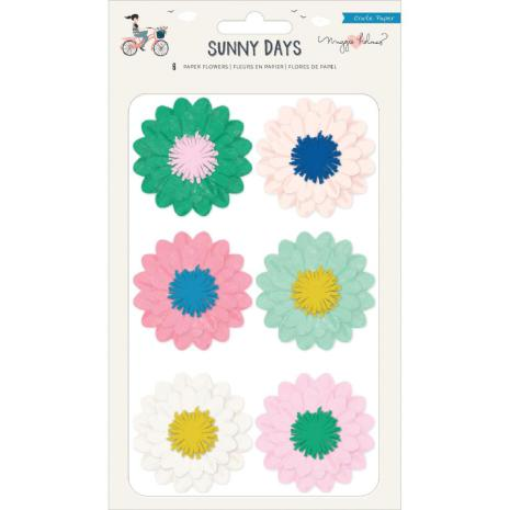 Maggie Holmes Adhesive Paper Flowers 6/Pkg - Sunny Days