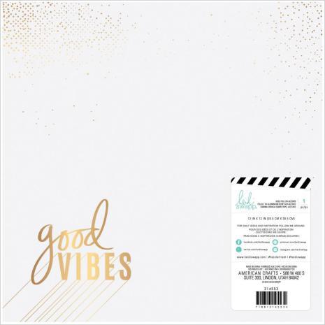 Heidi Swapp Color Fresh Foiled Cardstock 12X12 - Good Vibes
