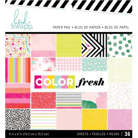 Heidi Swapp Single-Sided Paper Pad 6X6 36/Pkg - Color Fresh