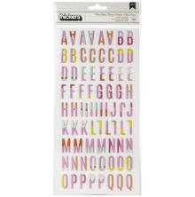 Heidi Swapp Color Fresh Thickers Stickers 5.5X11 153/Pkg - Alphabet