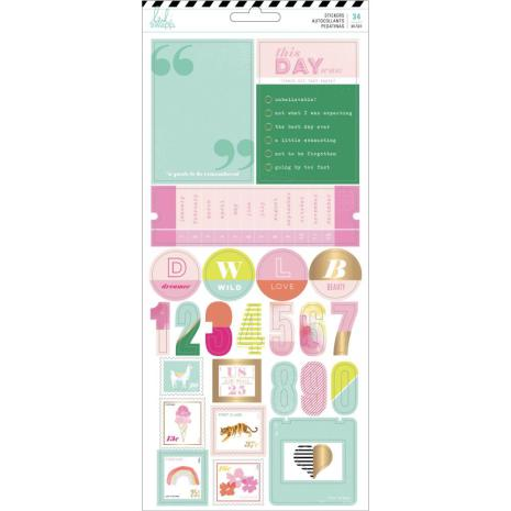 Heidi Swapp Cardstock Stickers 34/Pkg - Color Fresh