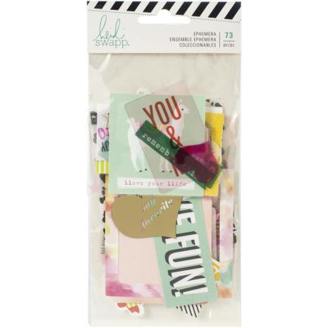 Heidi Swapp Ephemera Die-Cuts 73/Pkg - Color Fresh