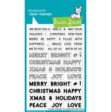 Lawn Fawn Clear Stamps 4X6 - Offset Sayings Christmas
