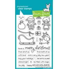 Lawn Fawn Clear Stamps 4X6 - Ho-Ho-Holidays