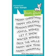 Lawn Fawn Clear Stamps 3X4 - Winter Wavy Sayings