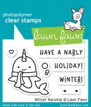 Lawn Fawn Clear Stamps 3X2 - Winter Narwhal