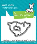 Lawn Fawn Custom Craft Die - Winter Narwhal