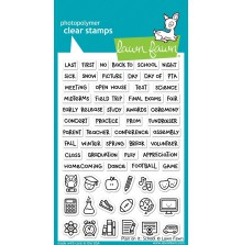 Lawn Fawn Clear Stamps 4X6 - Plan on It School