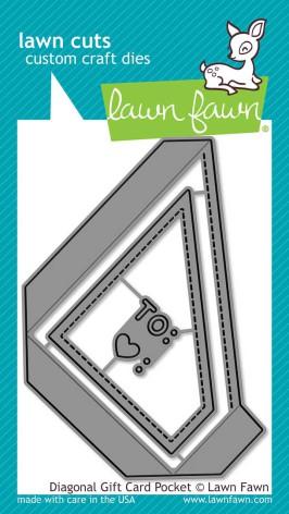 Lawn Fawn Custom Craft Die - Diagonal Gift Card Pocket