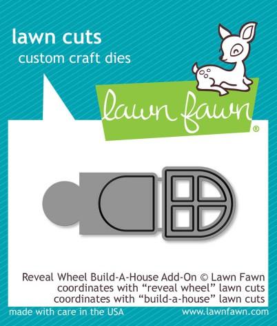 Lawn Fawn Custom Craft Die - Reveal Wheel Build-A-House Add-On