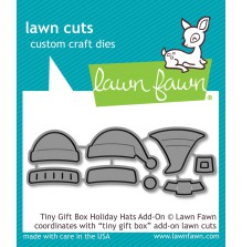 Lawn Fawn Custom Craft Die - Tiny Gift Box Holiday Hats Add-On