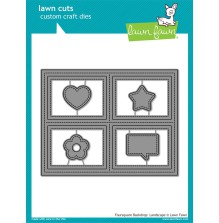 Lawn Fawn Custom Craft Die - Foursquare Backdrop Landscape