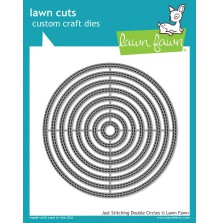 Lawn Fawn Custom Craft Die - Just Stitching Double Circles