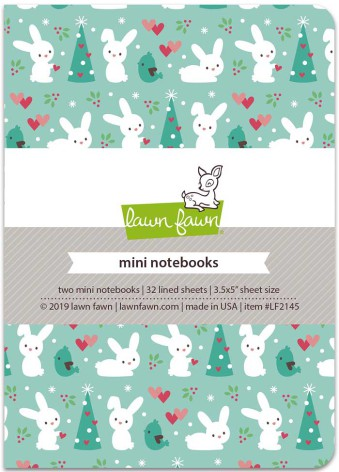 Lawn Fawn Mini Notebooks 3.5X5  2/Pkg - Snow Day Remix