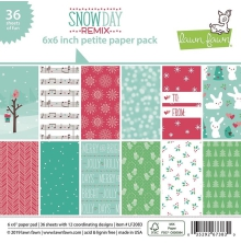 Lawn Fawn Petite Paper Pack 6X6 - Snow Day Remix