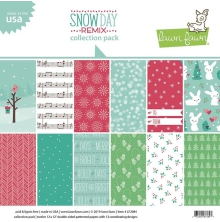 Lawn Fawn Collection Pack 12X12 - Snow Day Remix