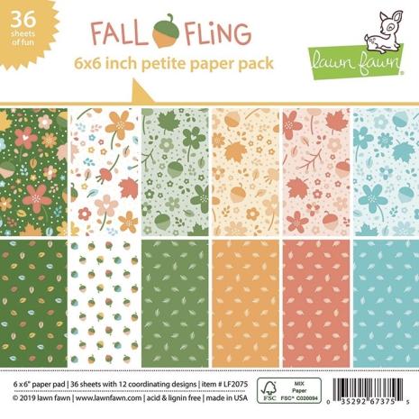 Lawn Fawn Petite Paper Pack 6X6 - Fall Fling