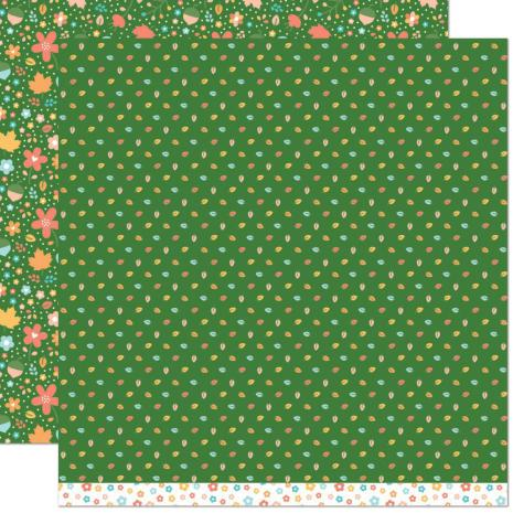 Lawn Fawn Fall Fling Double Sided Paper 12X12 - Linda