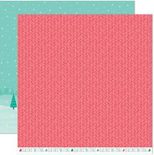 Lawn Fawn Snow Day Remix Double Sided Paper 12X12 - Snowboots