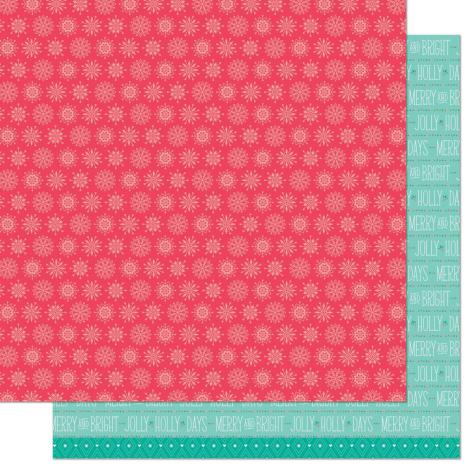 Lawn Fawn Snow Day Remix Double Sided Paper 12X12 - Beanie