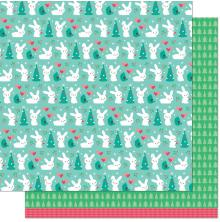 Lawn Fawn Snow Day Remix Double Sided Paper 12X12 - Wool Socks