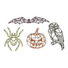 Tim Holtz Sizzix Thinlits Die Set 4PK - Geo Halloween 19-07