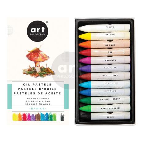 Prima Art Philosophy Water Soluble Oil Pastels 12/Pkg - Basics