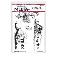 Dina Wakley Media Cling Stamps 6X9 - I Spill
